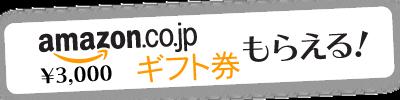 amazonギフト券3000円分もらえる